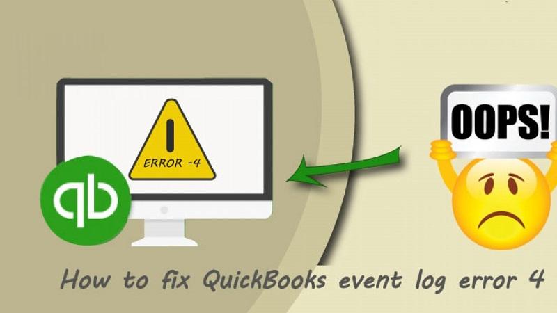 Fix QuickBooks Event Log Error 4