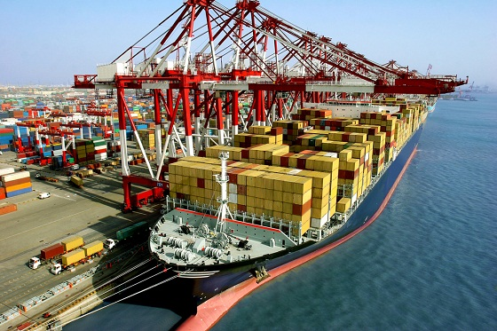 Marine Traffic at Container Terminal