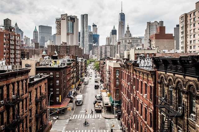 NYC street. Make sure to pick the right place when planning on moving in with your partner.