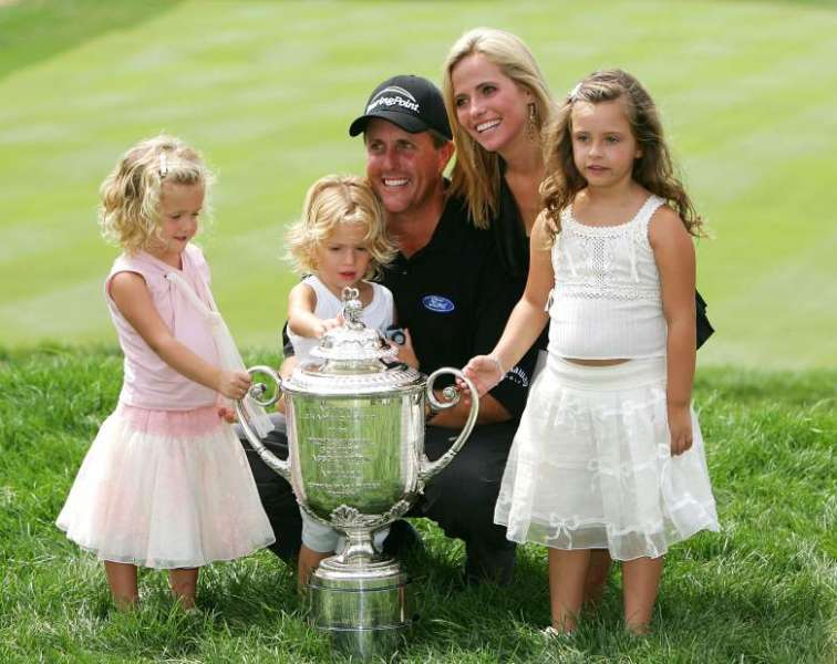 Phil Mickelson wife Amy McBride
