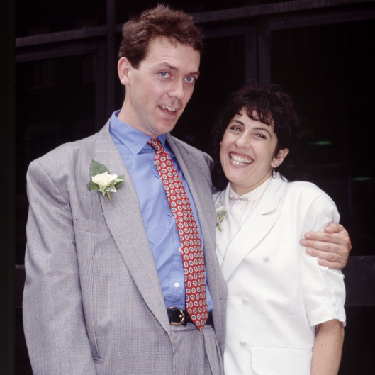 Jo Green and Hugh Laurie